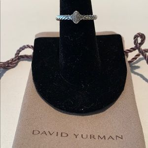 David Yurman diamond pave'quatrefoil ring